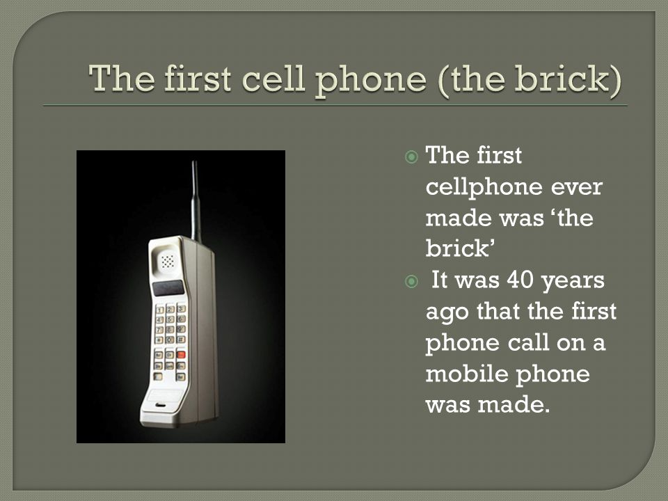 First telephone call ever
