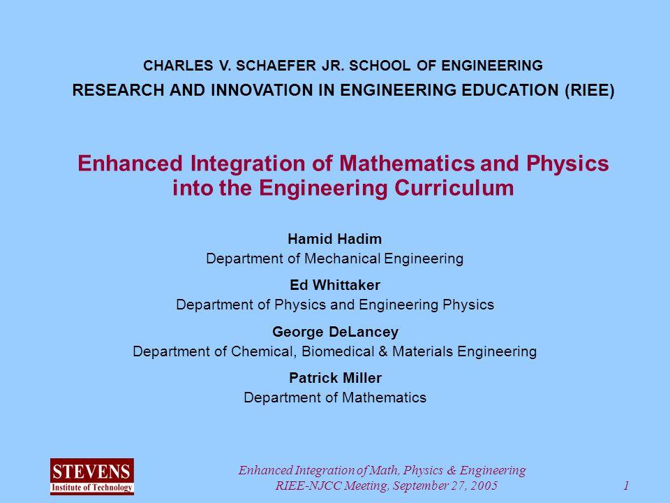 Enhanced Integration of Math, Physics & Engineering RIEE
