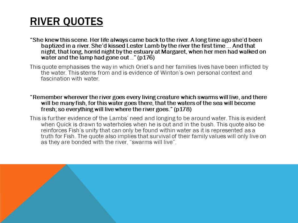 The River Water Motif Peter Newell And Kyle Stimson Ppt Download