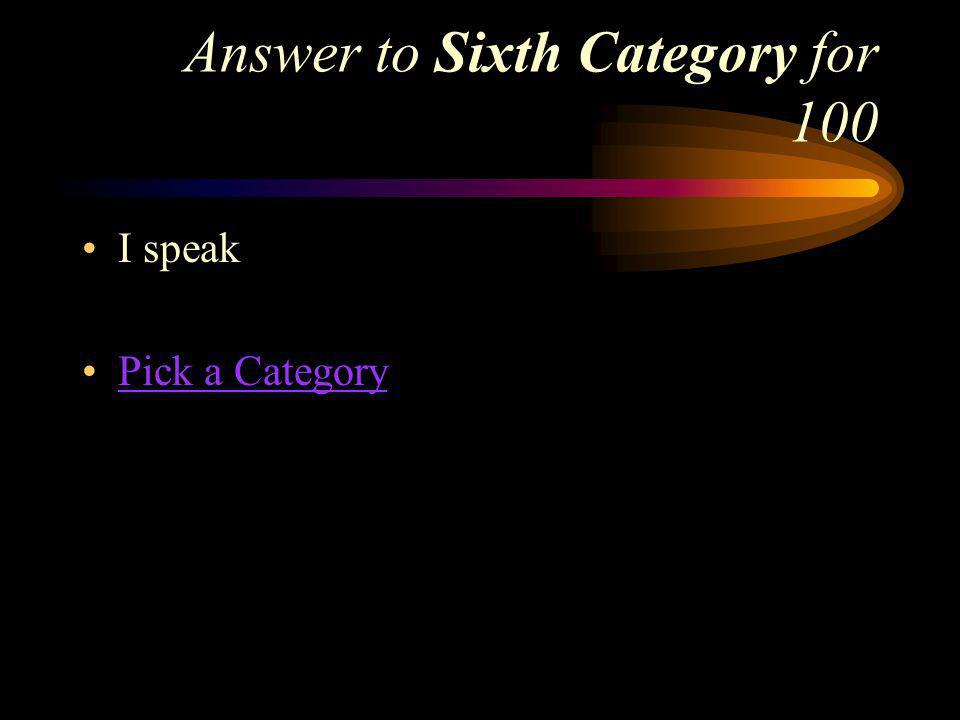 Sixth Category for 100 What does yo hablo mean in English