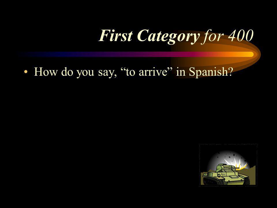 Answer First Category for 300 enseñar. Pick a Category