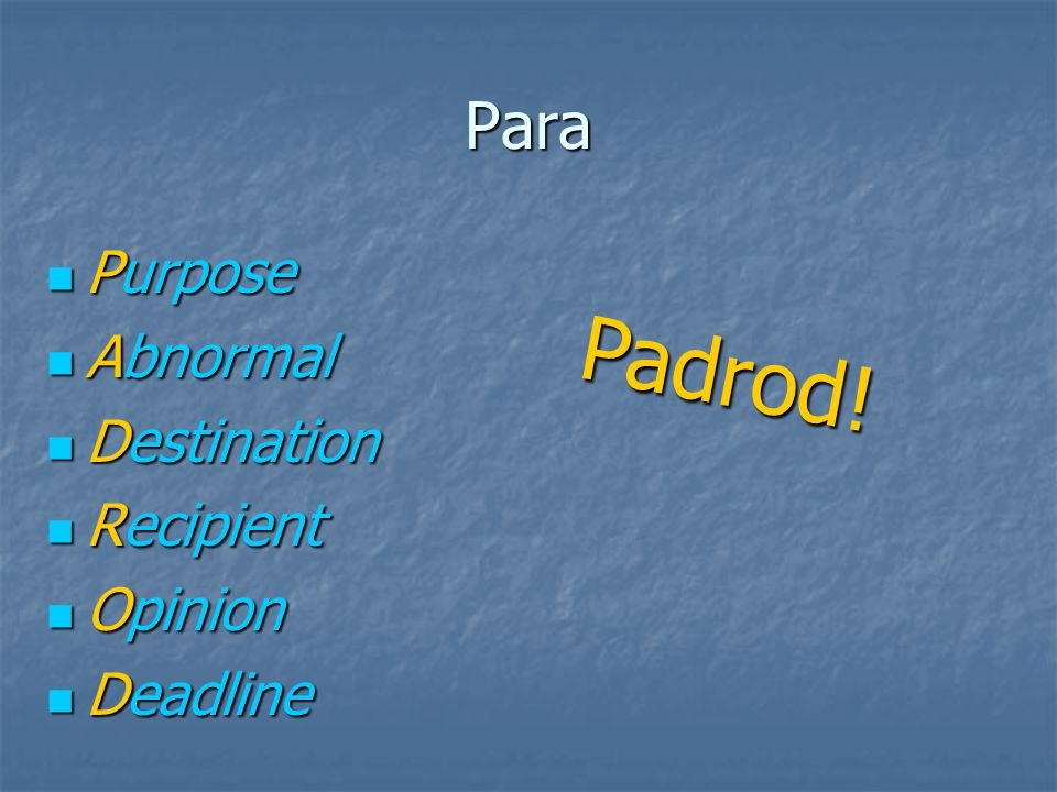 Para Para is used to indicate a deadline: Para is used to indicate a deadline: Uds.