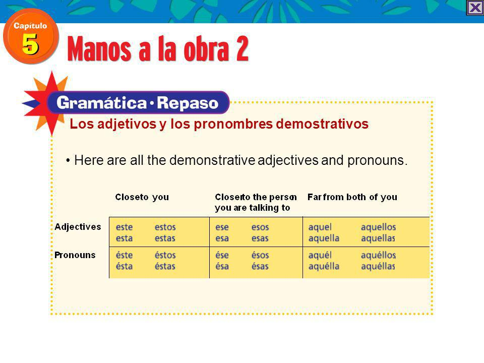 Here are all the demonstrative adjectives and pronouns.