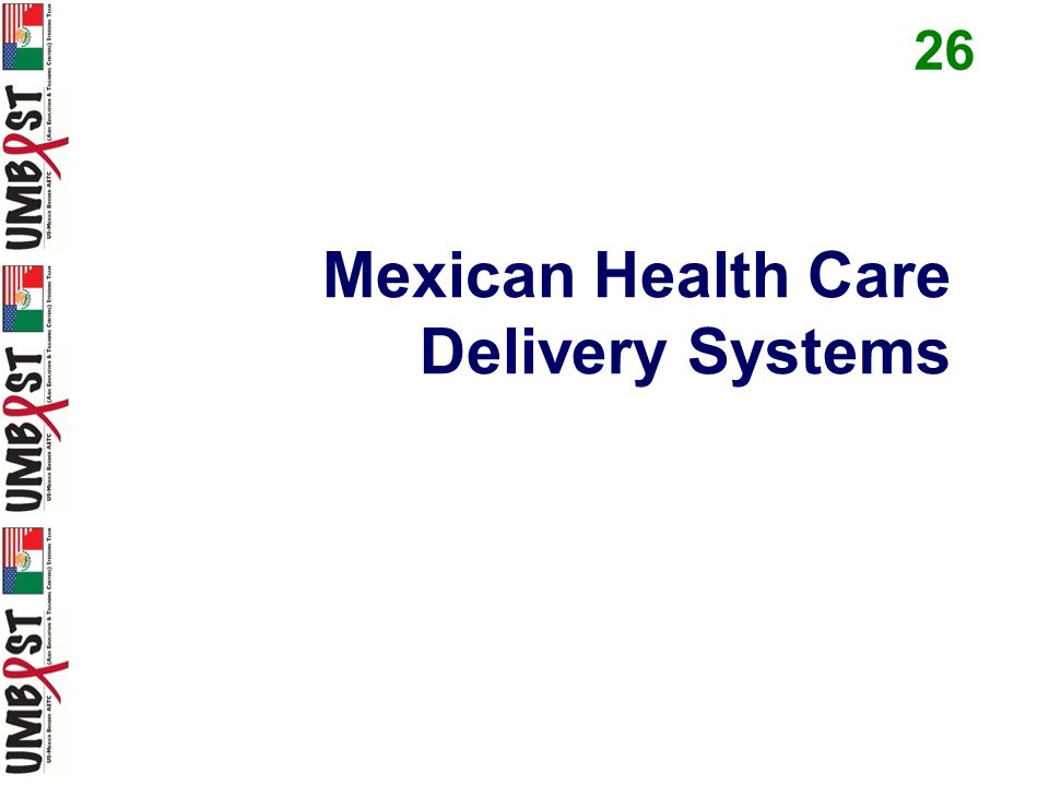 Mexican Health Care Delivery Systems 26