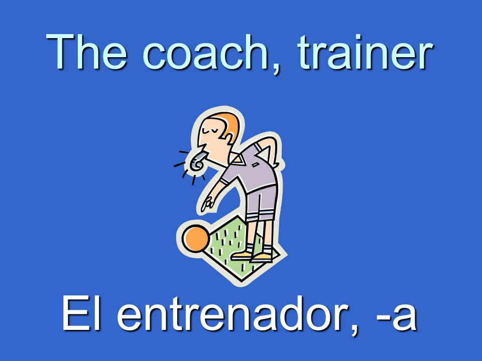 The coach, trainer El entrenador, -a