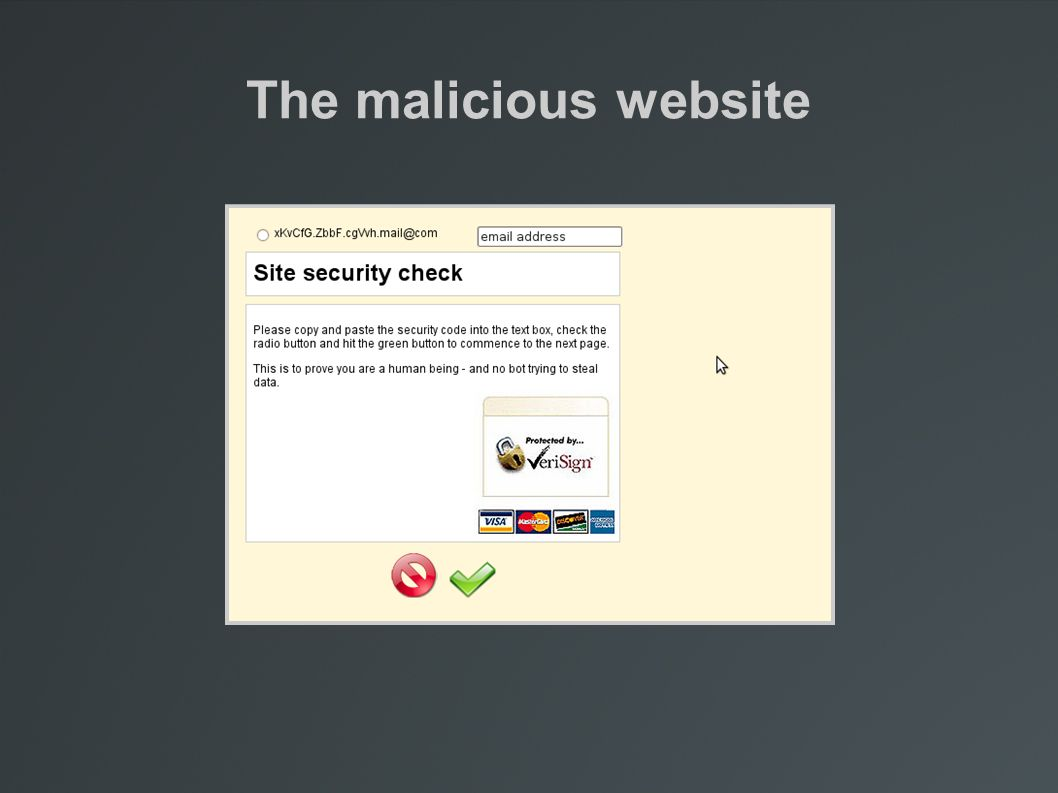 The malicious website