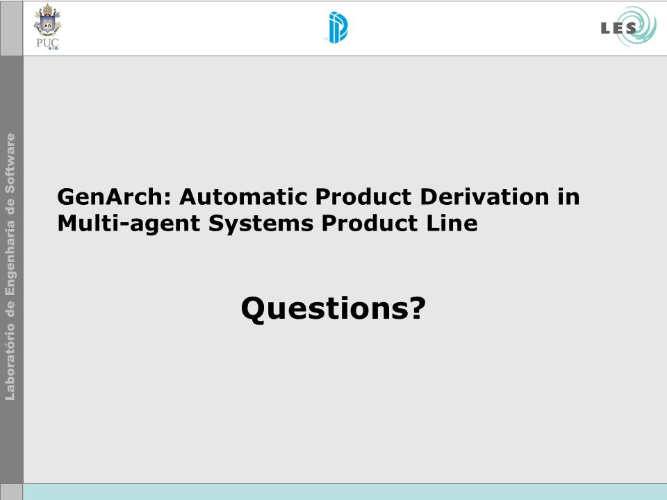 GenArch: Automatic Product Derivation in Multi-agent Systems Product Line Questions