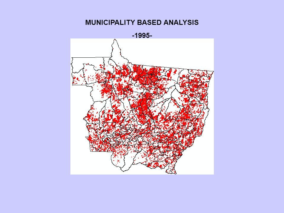 MUNICIPALITY BASED ANALYSIS -1995-