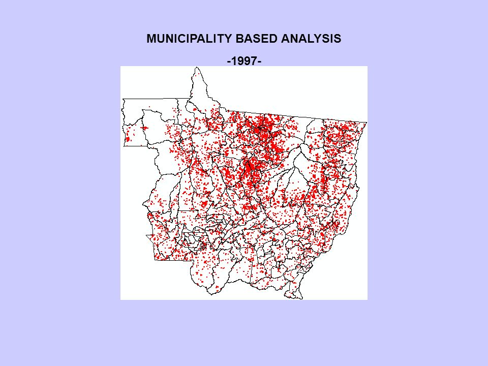 MUNICIPALITY BASED ANALYSIS -1997-