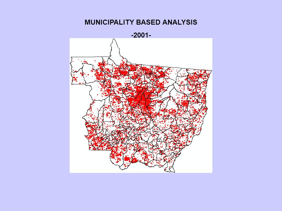MUNICIPALITY BASED ANALYSIS -2001-
