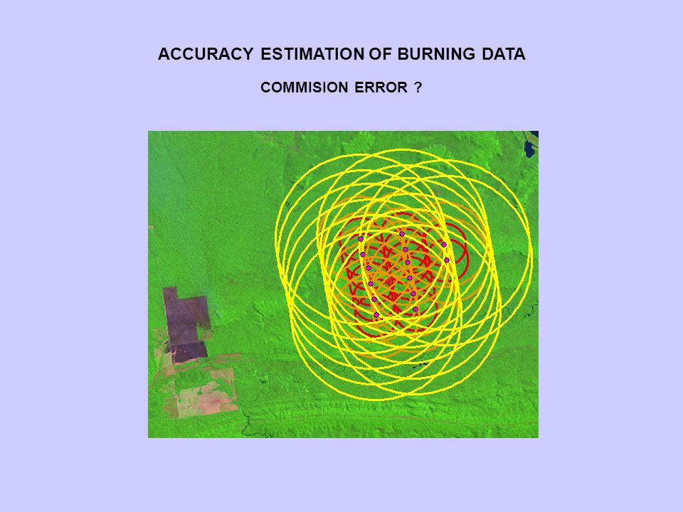 COMMISION ERROR ACCURACY ESTIMATION OF BURNING DATA