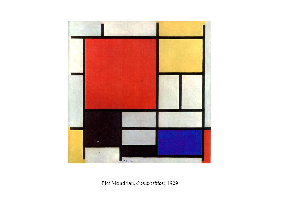 Piet Mondrian, Composition, 1929