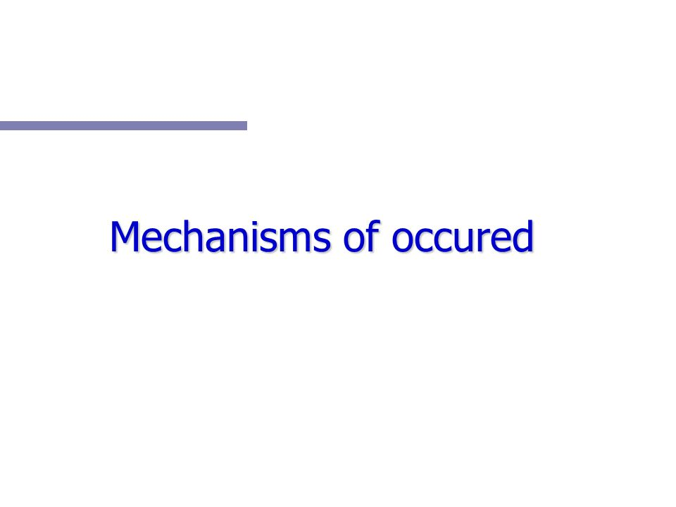 Mechanisms of occured