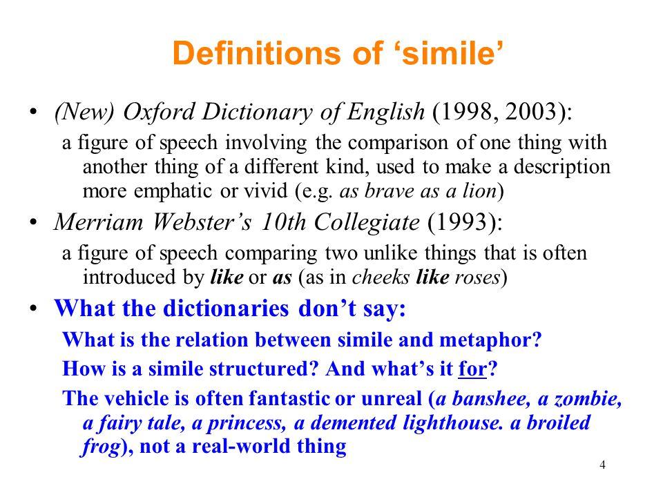 simile dictionary
