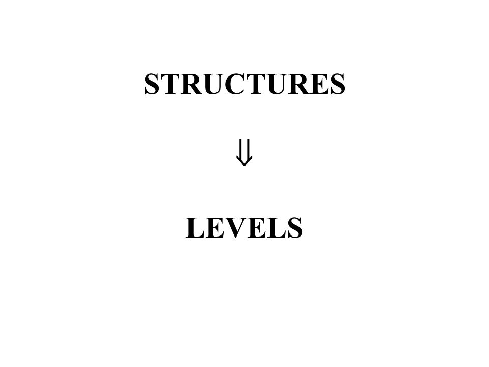 STRUCTURES LEVELS