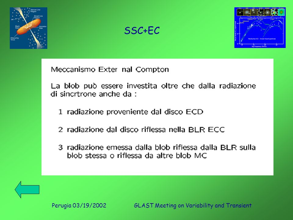Perugia 03/19/2002GLAST Meeting on Variability and Transient SSC+EC
