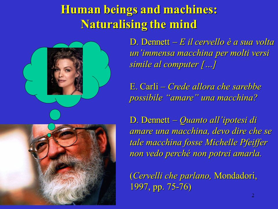 2 Human beings and machines: Naturalising the mind D.