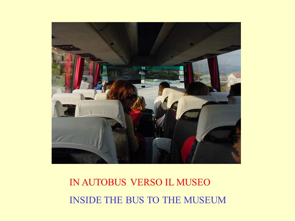 IN AUTOBUS VERSO IL MUSEO INSIDE THE BUS TO THE MUSEUM