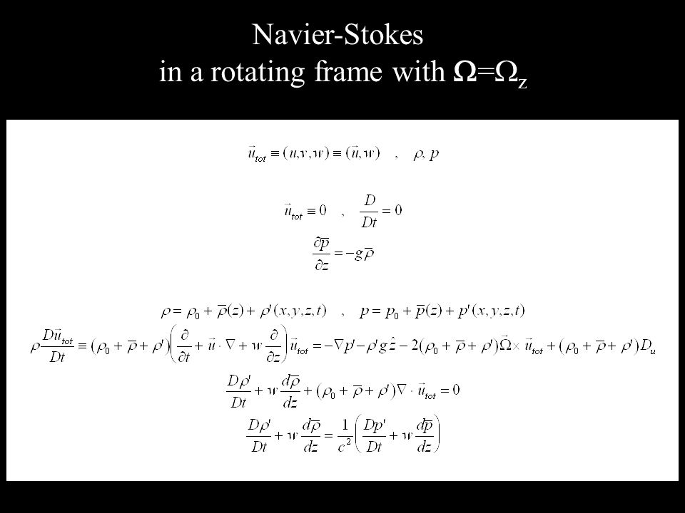 Navier-Stokes in a rotating frame with = z