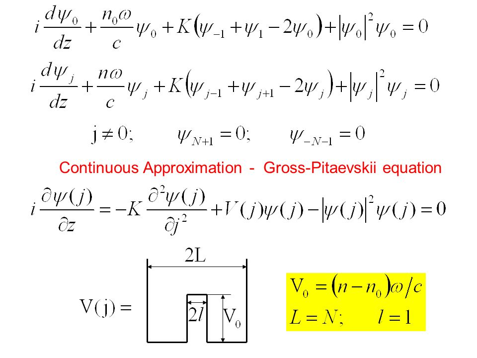 Continuous Approximation - Gross-Pitaevskii equation