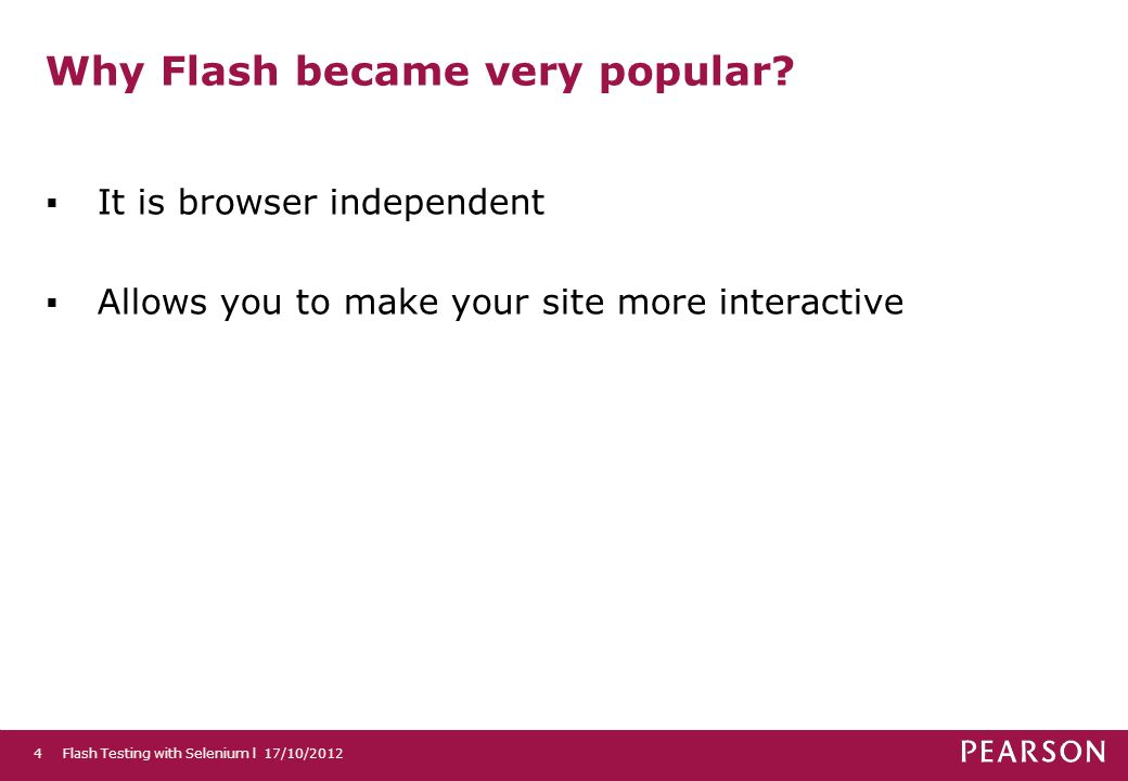 Why Flash became very popular.