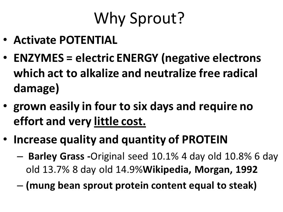 Why Sprout.