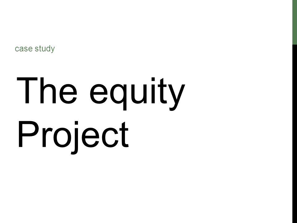 The equity Project case study