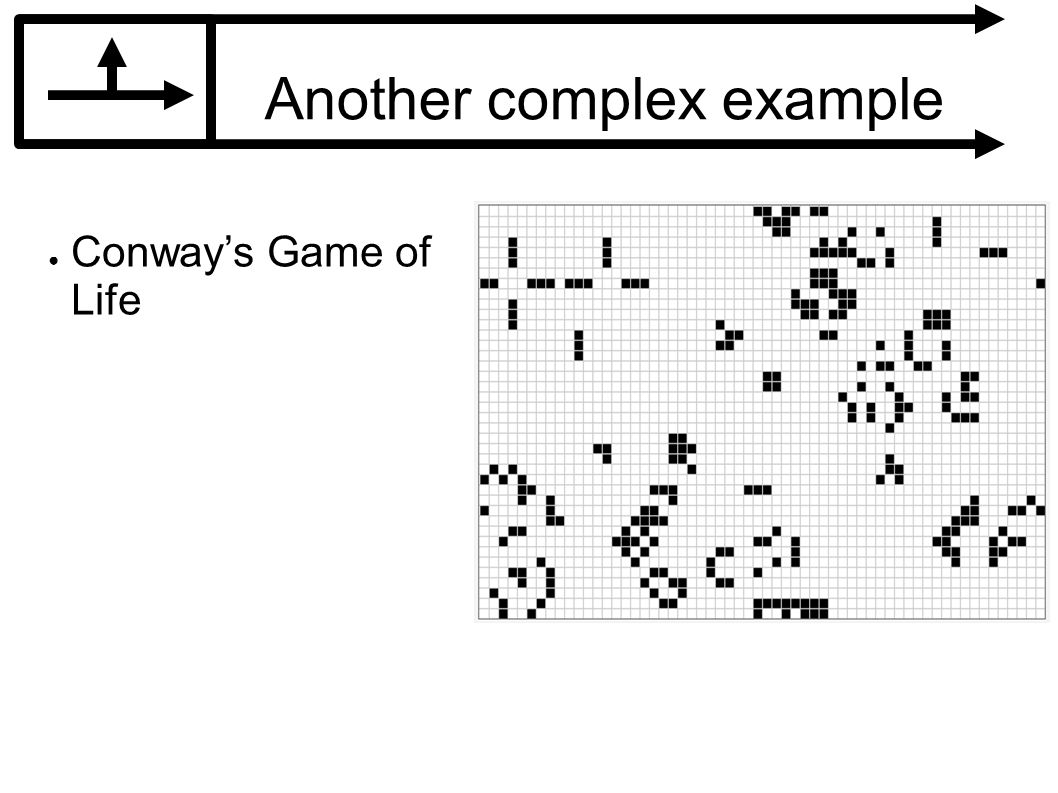 Another complex example Conways Game of Life