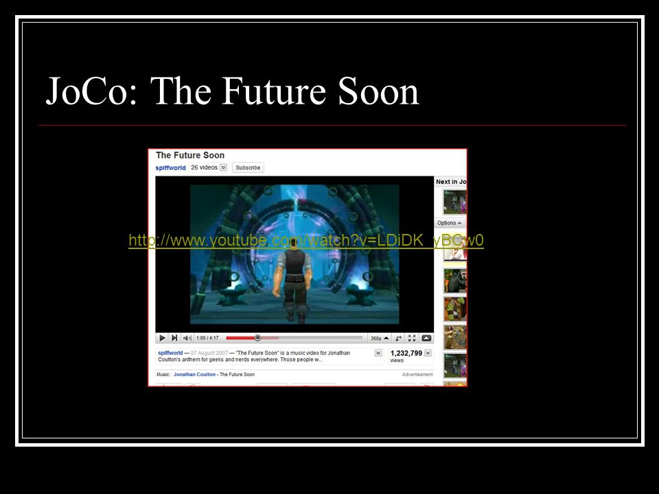 JoCo: The Future Soon http://www.youtube.com/watch v=LDiDK_yBCw0