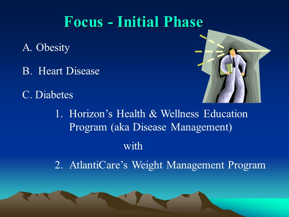 Focus - Initial Phase A. Obesity B. Heart Disease C.