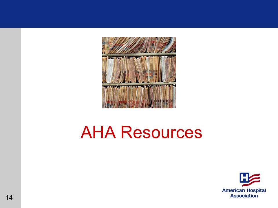 14 AHA Resources