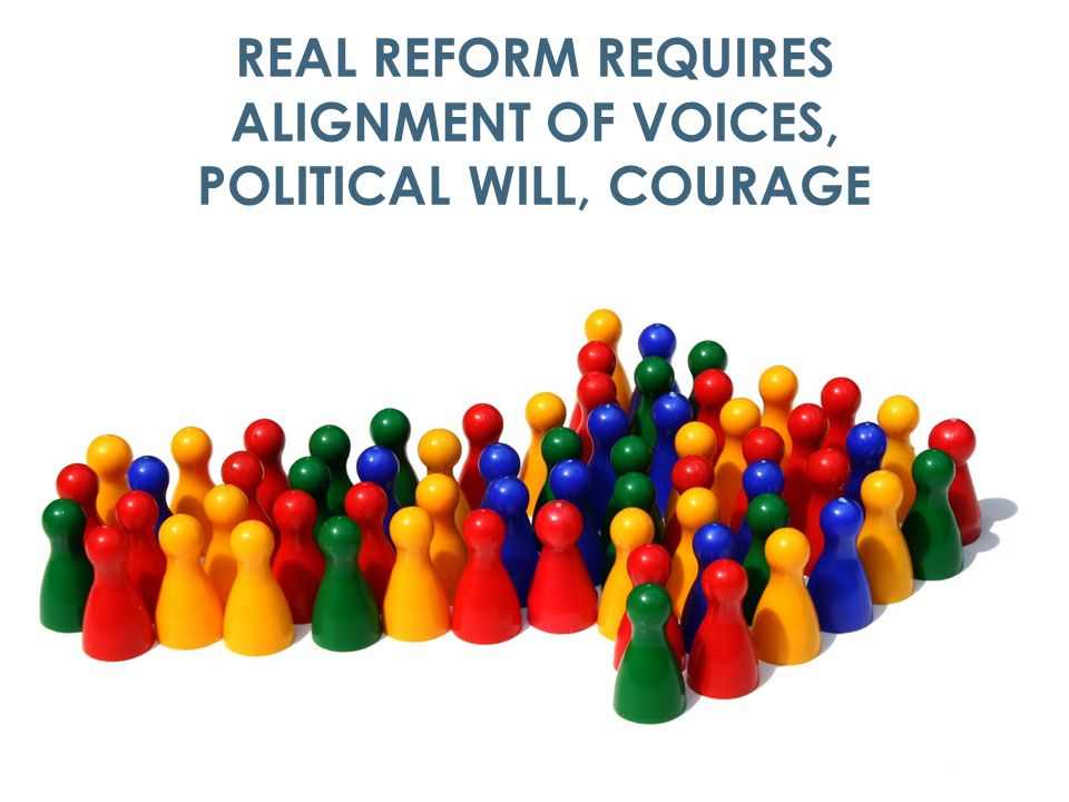 13 THE ACUTE NEED FOR DELIVERY SYSTEM REFORM REAL REFORM REQUIRES ALIGNMENT OF VOICES, POLITICAL WILL, COURAGE