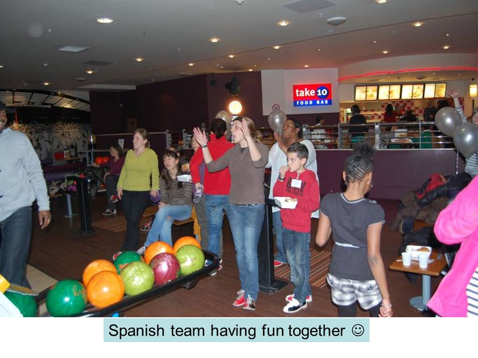 Spanish team having fun together