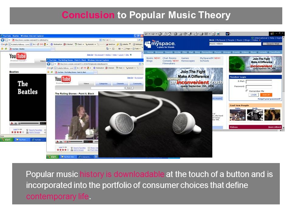 Popular music history is downloadable at the touch of a button and is incorporated into the portfolio of consumer choices that define contemporary life.