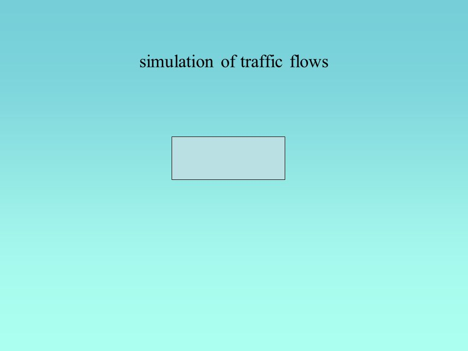 simulation of traffic flows