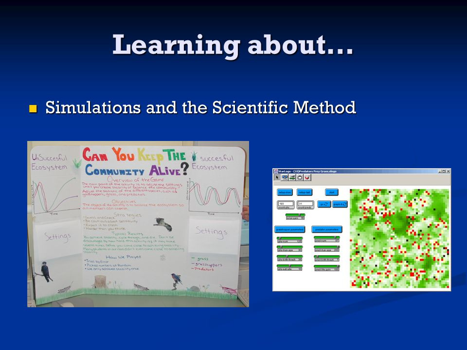 Learning about… Simulations and the Scientific Method Simulations and the Scientific Method
