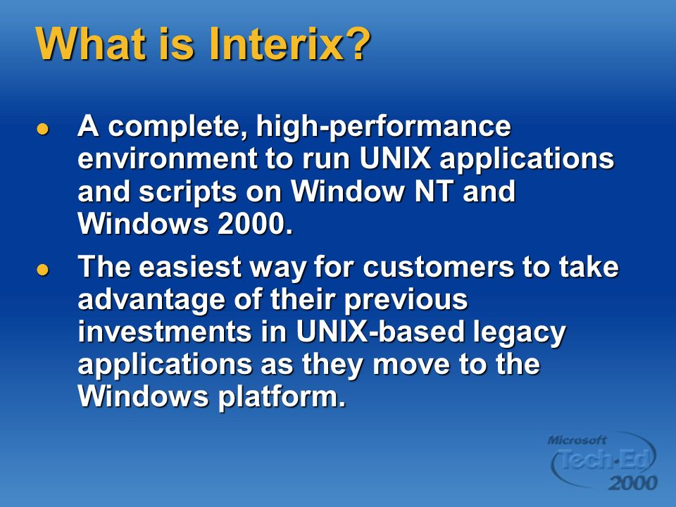 What is Interix.