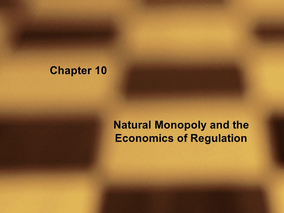 Chapter 10 Natural Monopoly and the Economics of Regulation