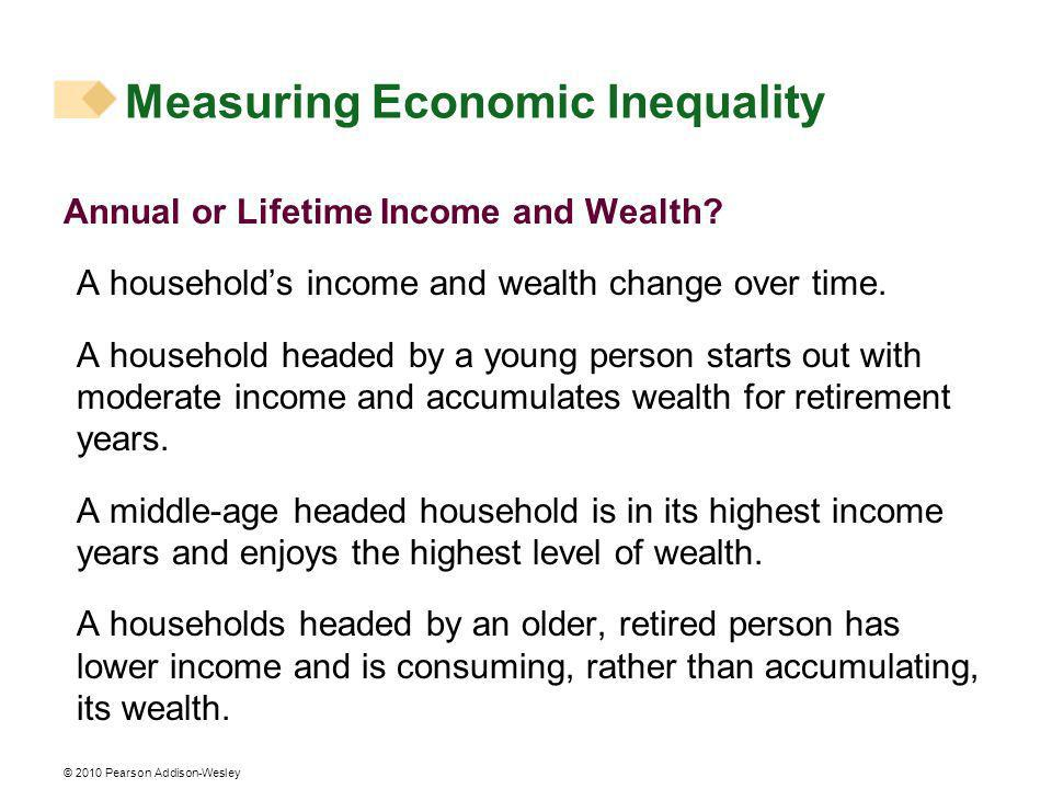 © 2010 Pearson Addison-Wesley Annual or Lifetime Income and Wealth.