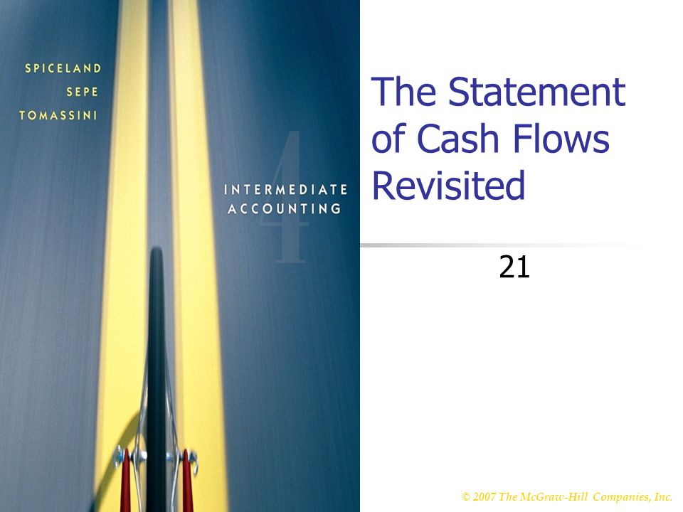 © 2007 The McGraw-Hill Companies, Inc. McGraw-Hill/Irwin The Statement of Cash Flows Revisited 21