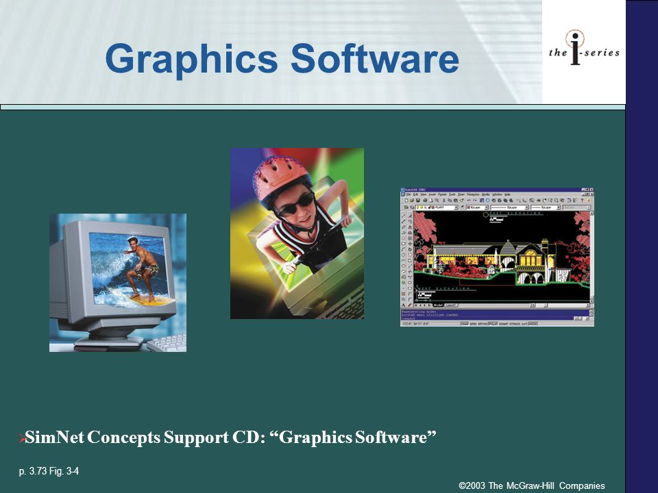 ©2003 The McGraw-Hill Companies Graphics Software p.