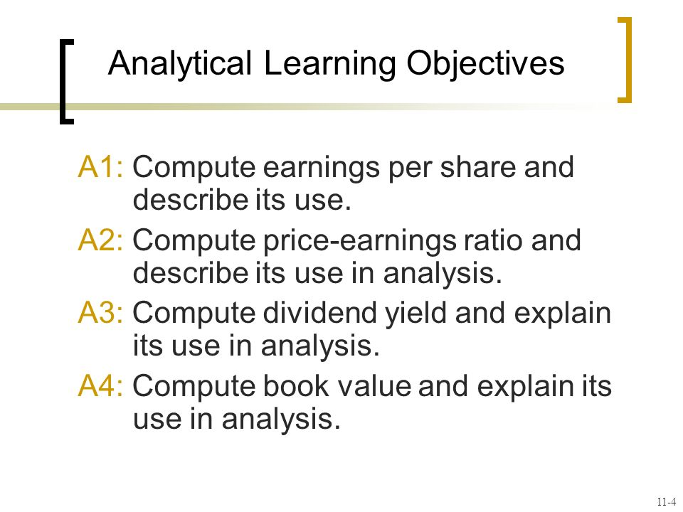 A1: Compute earnings per share and describe its use.