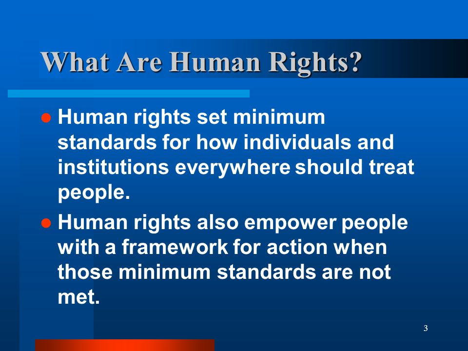 3 What Are Human Rights.