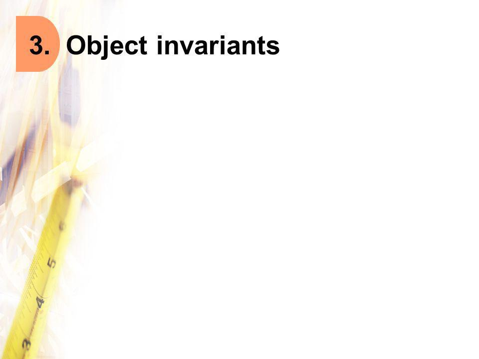 3. Object invariants