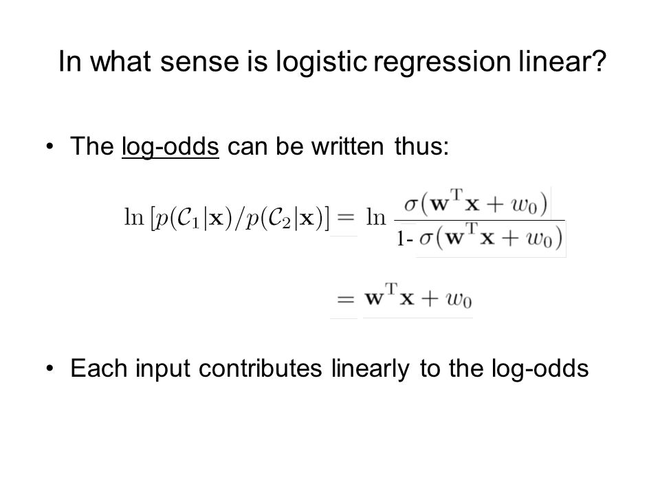 In what sense is logistic regression linear.