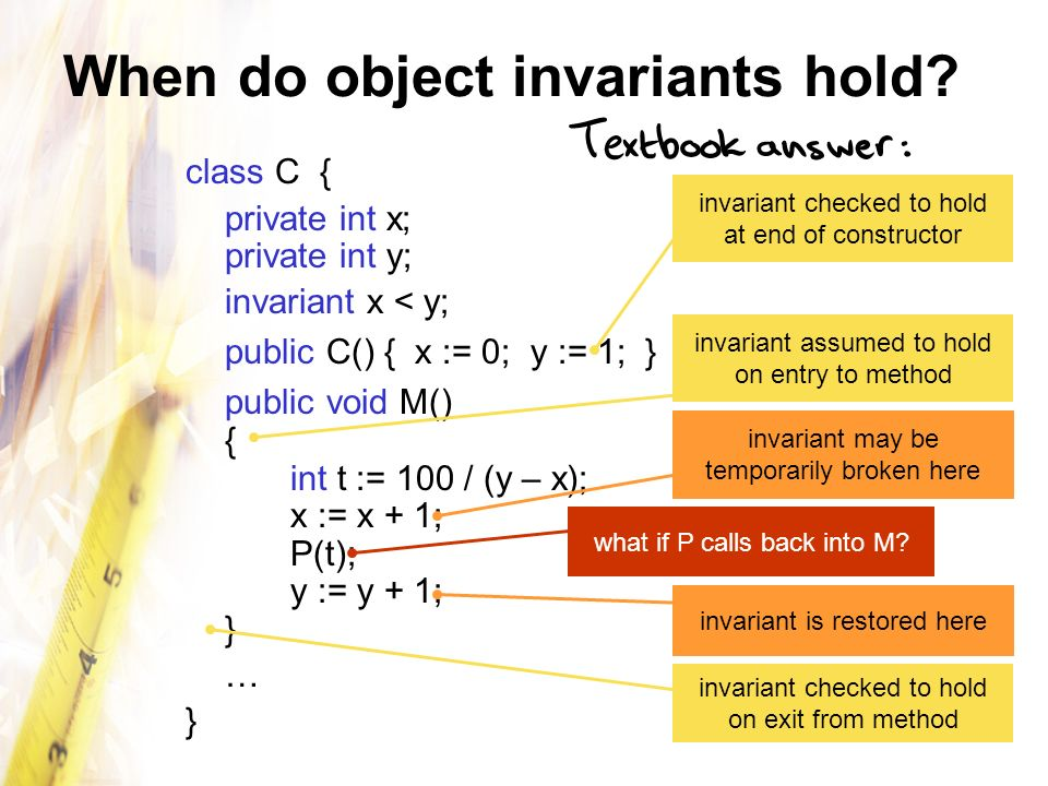 When do object invariants hold.