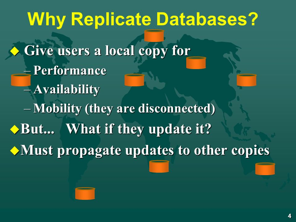 4 Why Replicate Databases.