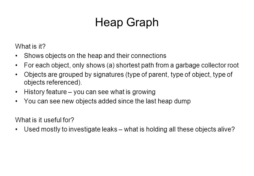 Heap Graph What is it.
