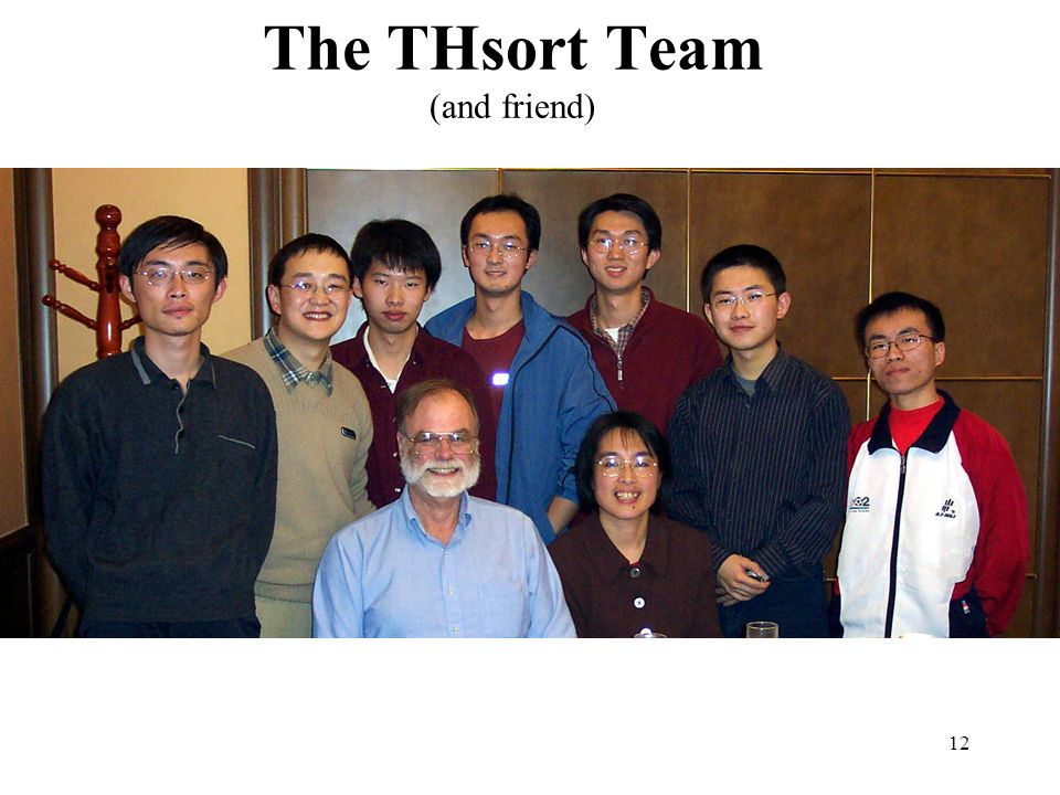 12 The THsort Team (and friend)