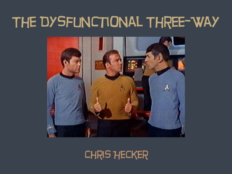 The Dysfunctional Three-Way Chris Hecker